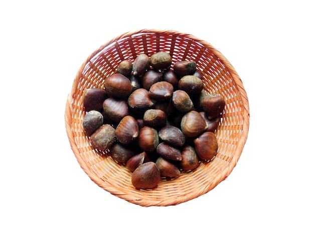 Chestnuts in a basket