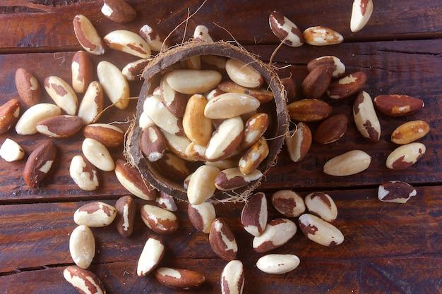 Chestnuts from para, brazil nuts. castanha-do-para