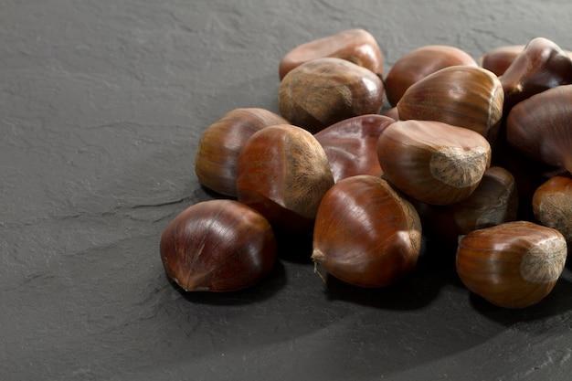 Chestnuts on slate