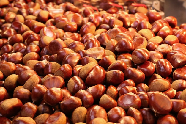 Chestnuts street food in korea