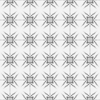 셰브론 수채화 패턴입니다. 흑백의 강력한 보헤미안 세련된 여름 디자인. 녹색 기하학적 갈매기형 수채화 테두리입니다. 직물 준비 괜찮은 인쇄, 수영복 직물, 벽지, 포장.