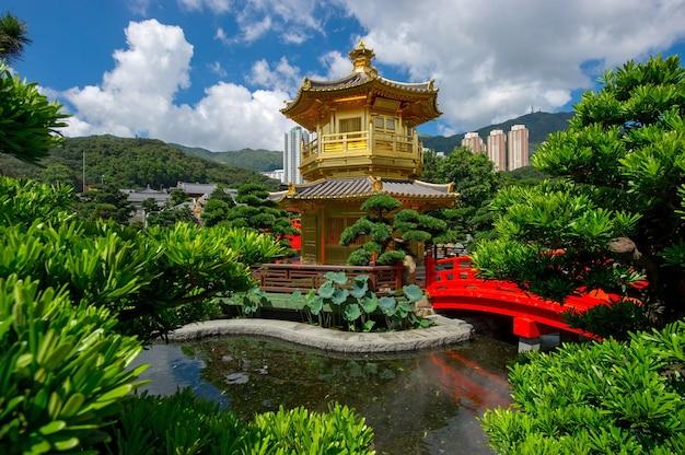 Chi lin nunnery, nan lian garden situated at diamond hill, kowloon, hong kong