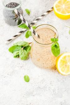 Натуральный энергетический напиток, chia fresca, настоянная вода или лимонад