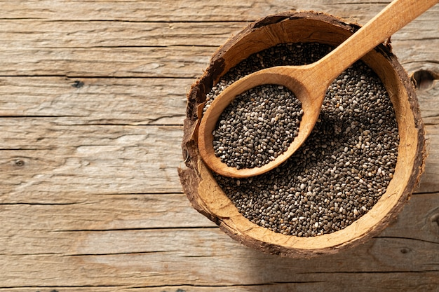 Chia seeds in dishes