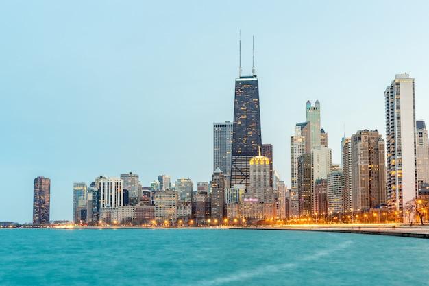 Чикаго в сумерках