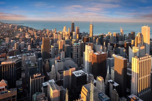 アメリカのシカゴの街並み