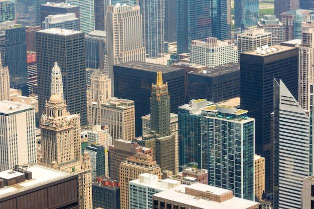 Chicago downtown closeup, illinois usa