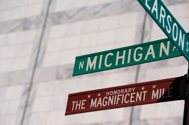 Chicago, michigan avenue street sign