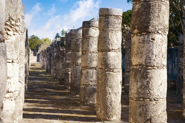 Chichen itza one thousand columns temple