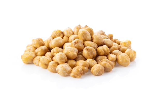 Chick peas isolated on white background