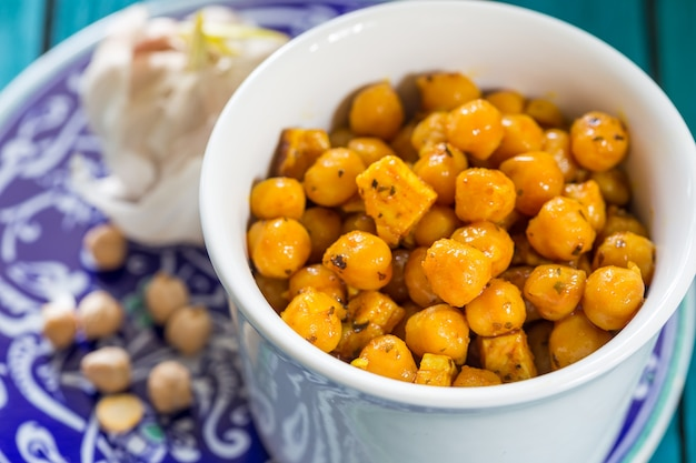 Chick peas with different spices