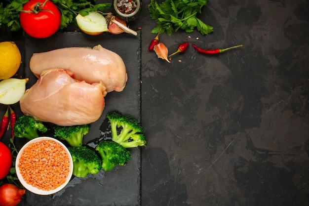 Филе куриной грудки с ингредиентами