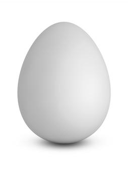 Куриное яйцо на белом фоне. 3d визуализация