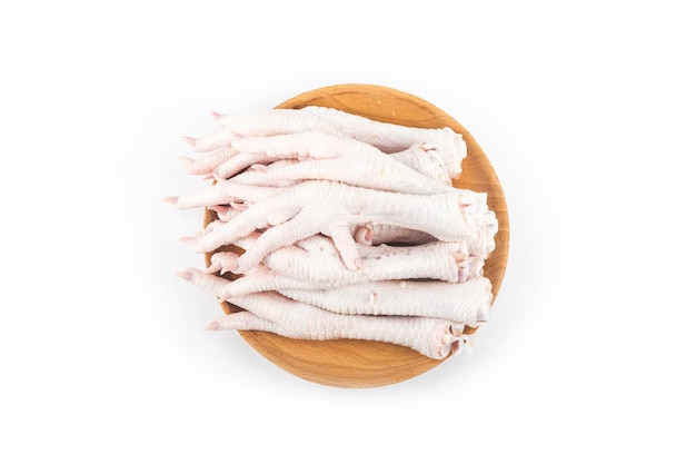 Chicken feet on white