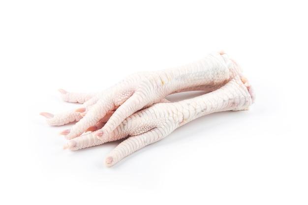 Chicken feet on white