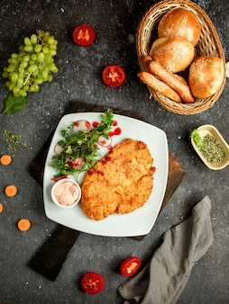 Chicken fillet in batter with mayonnaise
