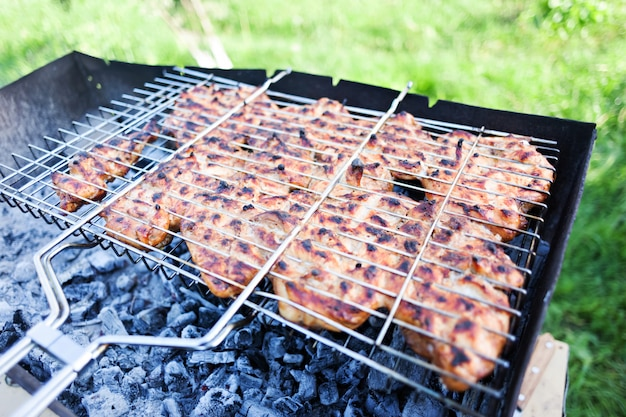 Chicken on a grill