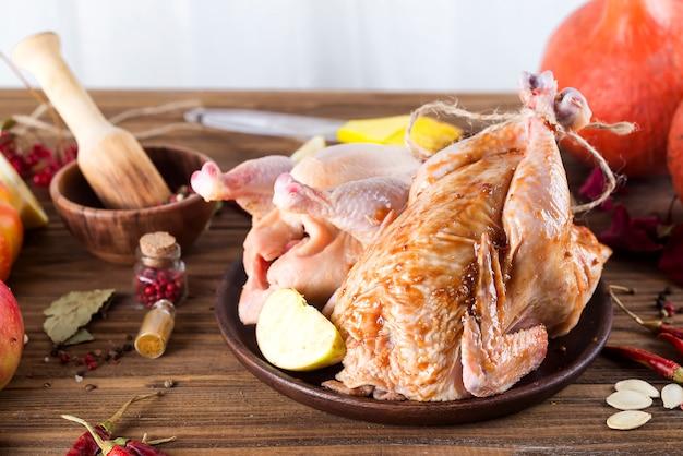 Chicken in marinade for baking