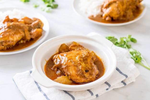 Chicken massaman curry paste with rice