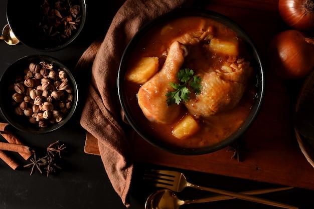 チキンマッサマンカレースープ