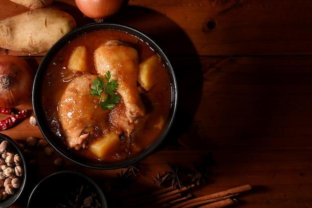 Курица массаман карри суп