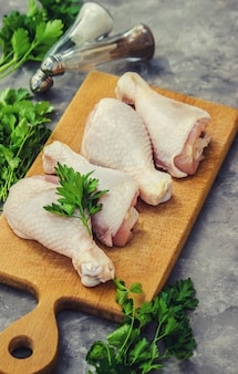 Chicken meat, selective focus. food and drink.