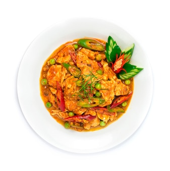Chicken panang red curry thai food fusion