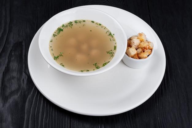 Chicken soup chicken meatballs