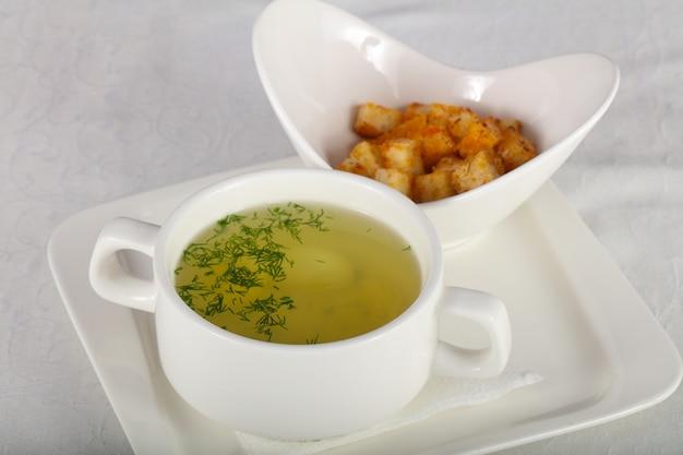 Куриный суп Premium Фотографии