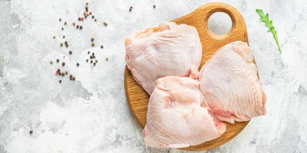 닭 허벅지 고기 가금류 다리 건강한 식사