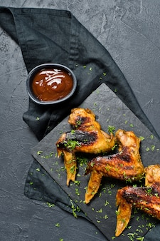 Chicken wings barbecue.