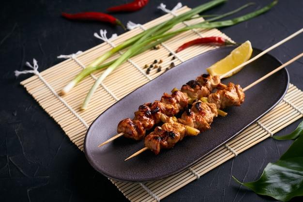 Chicken yakitori japanese street food