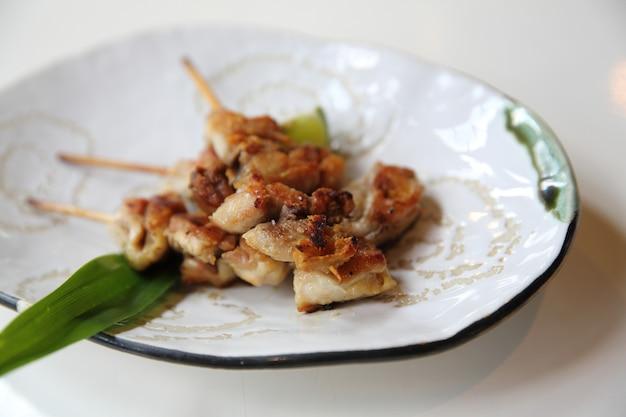 鶏焼き鳥塩、日本食