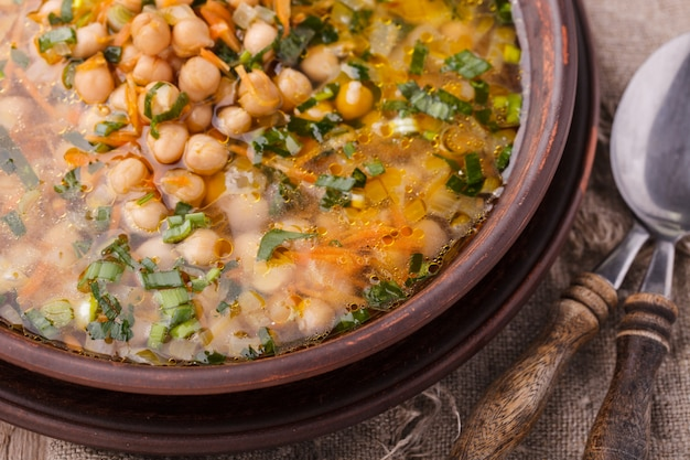 Chickpea soup.