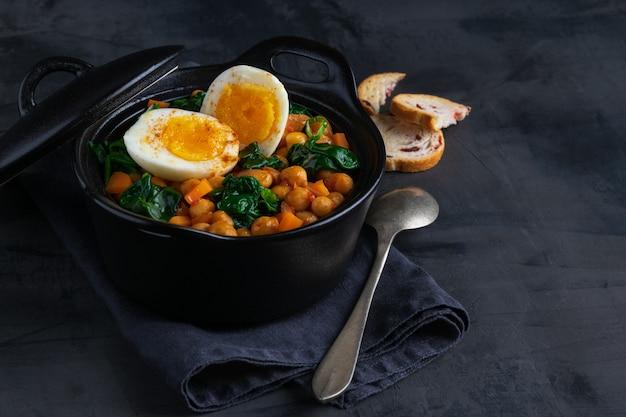Chickpea stew spanish recipe.