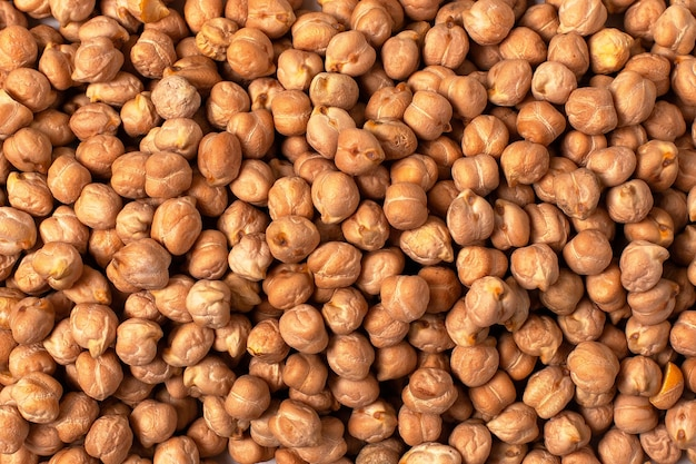 Chickpeas background close up.