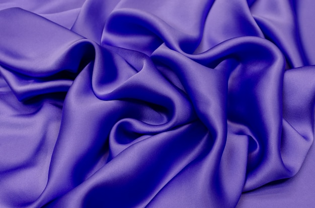 Chiffon silk lilac color