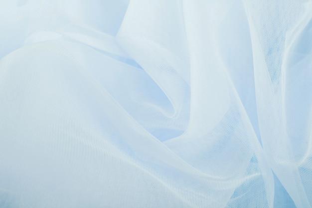 쉬폰 얇은 명주 그물 직물 질감 배경. 주름 치마 패브릭 질감. 근접 촬영 plisse 패브릭 질감 패턴