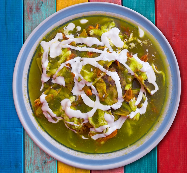 Chilaquiles verdesグリーンメキシコレシピ