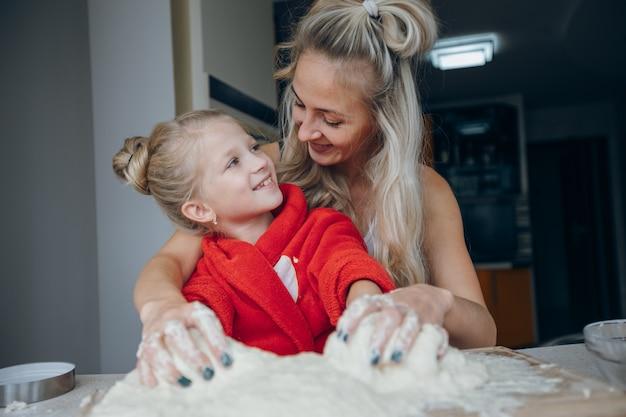 Child bowl smile flour food