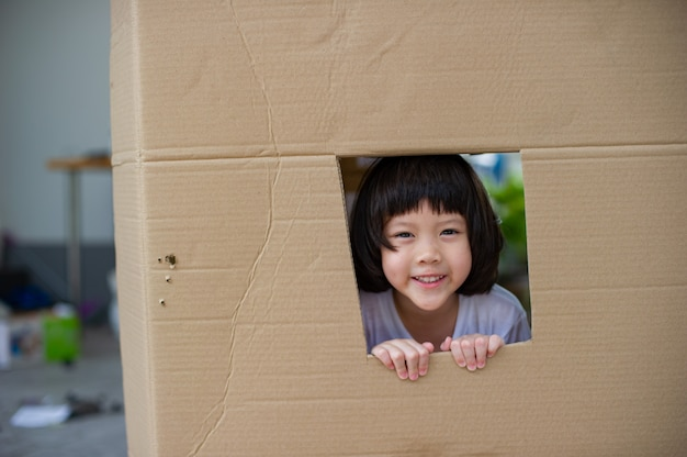 Child in the box, hidden kid