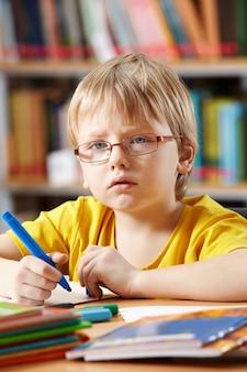 Детский рисунок в библиотеке