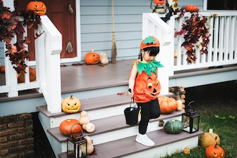 Child in a Halloween costume