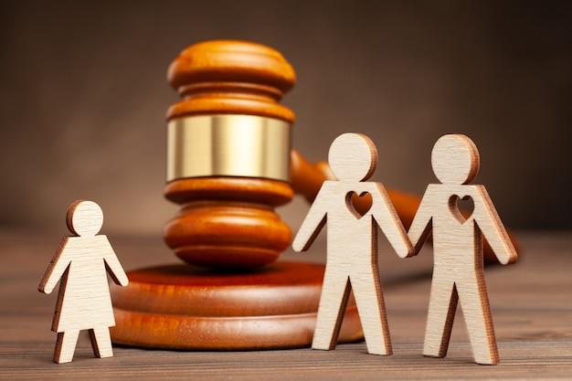 同性愛者の家族の養子縁組の子供または同性愛者の家族の親権2人の同性愛者の母性を示唆する
