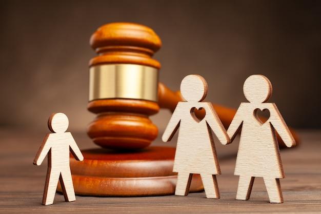 同性家族の養子縁組またはレズビアン家族の母性の子供親権2人のレズビアン