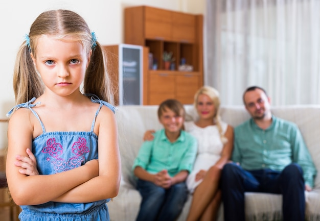 両親に怒られた子供