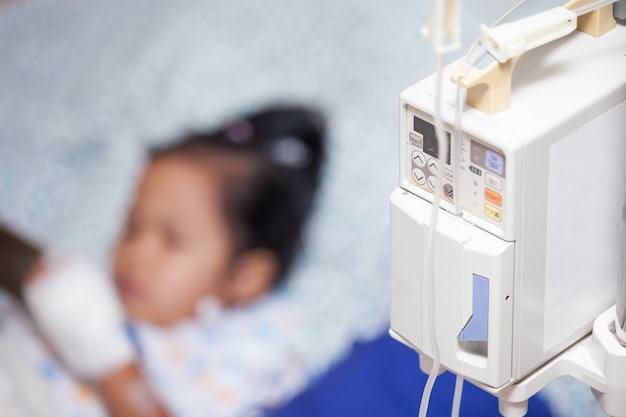 Child patient in the hospital