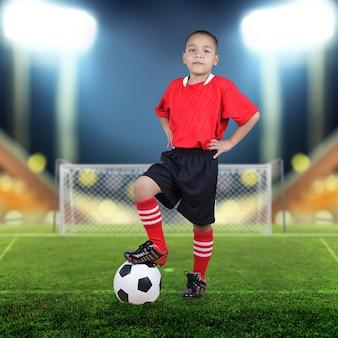 Child soccer player