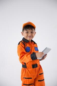 Детская форма как космонавт