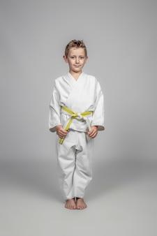 Child wearing martial arts judogi